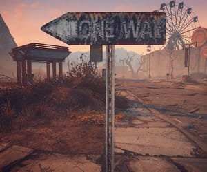 dusty, fallout, and one way image