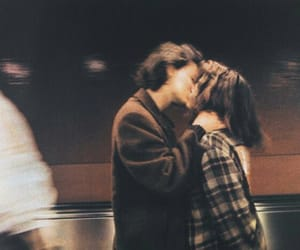 couple, grunge, and kiss image