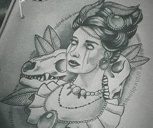 blackandwhite, cry, and dark image