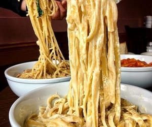 food, pasta, and chocolate image