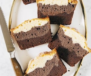 cacao, cake, and chocolate milk image