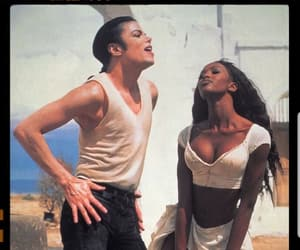 michael jackson, Naomi Campbell, and model image