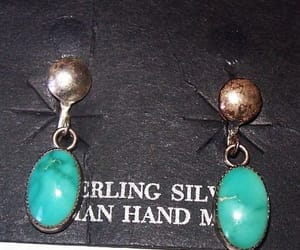 etsy, turquoise earrings, and screw back earrings image