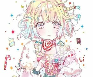 sweets and anime cute girl image