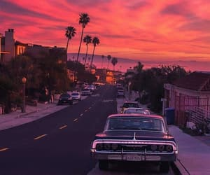 sunset, california, and los angeles image