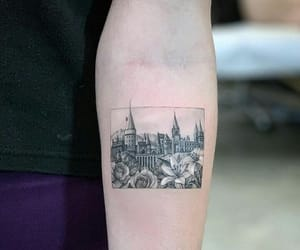 art, black, and castle image