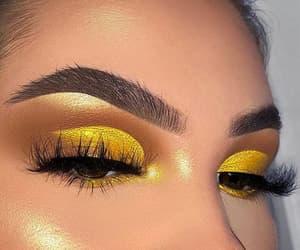 makeup, beauty, and yellow image