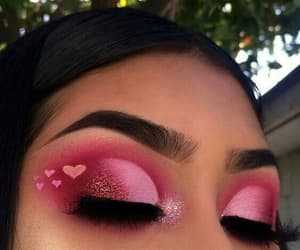 fashion, hearts, and makeup image