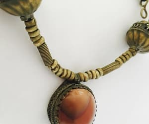 brass, vintage jewelry, and antique necklace image