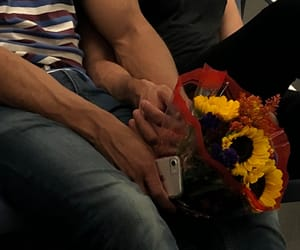 couple, flowers, and love image