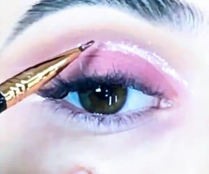 cosmetics, eye shadows, and eyes image