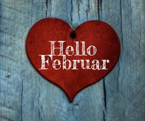 february, love, and hello image