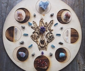 moon, crystal, and witch image