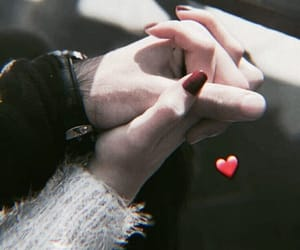 couple, hands, and couple goals image