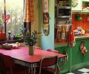 kitchen, colorful, and vintage image