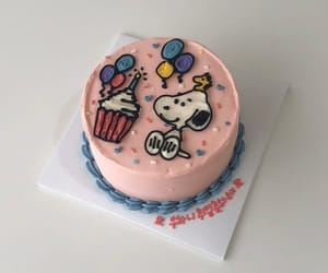 cake, food, and snoopy image
