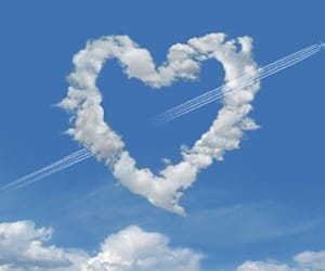 heart, sky, and theme image