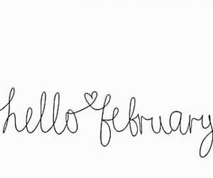february, hello, and heart image