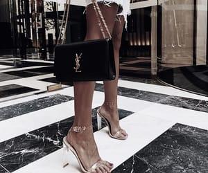 denim, heels, and style image
