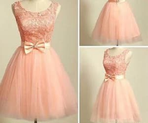 pink prom dresses, prom dresses short, and lace prom dresses image
