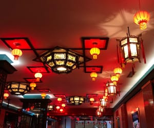china, lamps, and chinese image