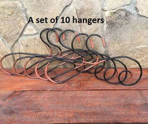 clothes hanger, etsy, and wardrobe image