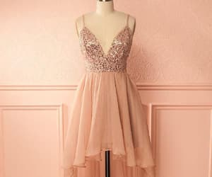 homecoming dress pink, prom dress backless, and homecoming dress a-line image