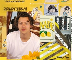 yellow and Harry Styles image