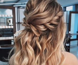 curly, hair, and shine image