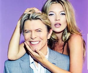 david bowie, kate moss, and model image