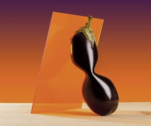art direction, color, and eggplant image