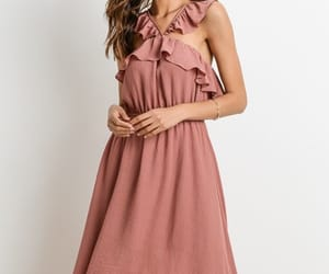 blush, dress, and ruffle image