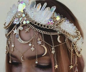 aesthetic, crown, and moon image