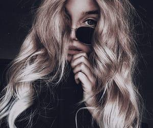 blonde hair, girl, and long hair image