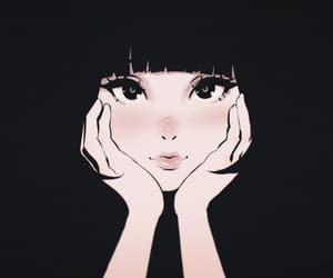 art, anime, and black image