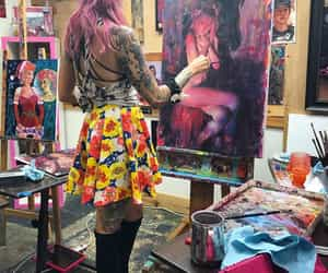 aesthetic, paint, and painting image