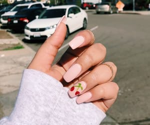 cherry, nails, and pink image