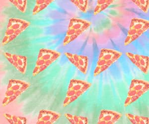background, pastel, and pizza image