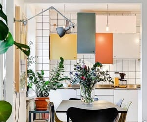 chic, living space, and colors image