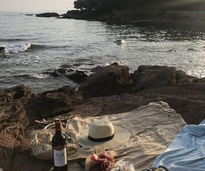 aesthetic, picnic, and rocks image