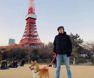 Harry Styles, dog, and one direction image