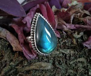 mermaid ring, gypsy ring, and sterling silver ring image