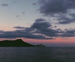 hawaii, mountain, and sky image