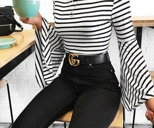 outfit, black, and gucci image