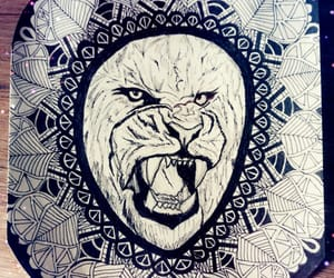 black, draw, and zentangle image