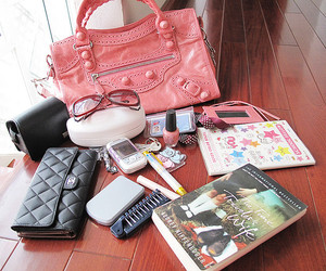 notebook, chanel purse, and opi nail lacquer image