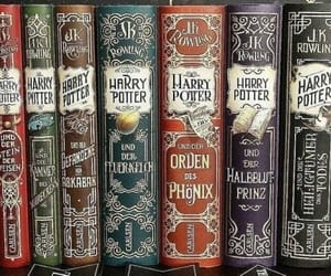 books, harry potter, and j.k rowling image