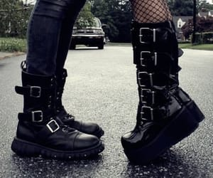 black, boots, and goth image