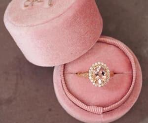 diamond, pink, and ring image