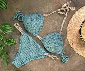 beach wear, crochet bikini, and etsy image